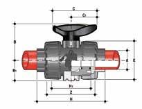 VKDIM, Guľový ventil Dual Block®, ramená spájané polyfúznym zváraním
