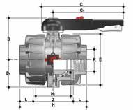 VKDIV, Guľový ventil Dual Block®, ramená spájané lepením