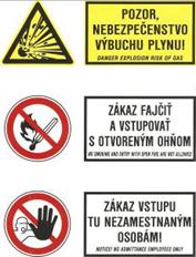Bezpečnostné štítky a tabuľky