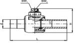 KH - Guľový kohút z PE s dlhými ramenami, plnoprietočný uzatvorenie otočením                                   o 90° (plyn)