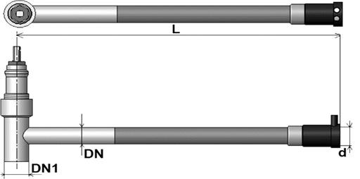 MUSTRR - Pripojovací T-kus D - 430 s možnosťou osadenia ventilom s prechodkou