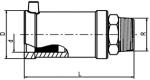 USTN - Prechodka PE/oceľ s vonkajším závitom