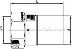 UAM - Uni prechodka PE/mosadz s vnútorným závitom
