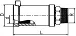 MUN V2A - Prechodka PE/nerez s vonkajším závitom