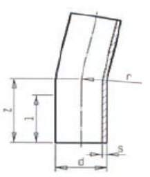 BB 11° - Oblúk 11° s dlhými ramenami