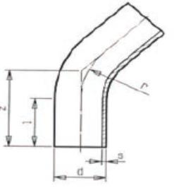 BB 30° - Oblúk 30° s dlhými ramenami