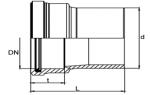 UKG - Prechodka PE - PVC/PP