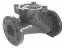Spätný guľový ventil prírubový TYP 6516
