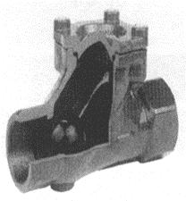 Spätný guľový ventil závitový TYP 6616