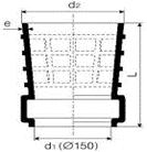 PVC-U prechodka šachtová kanalizačná vstrekovaná